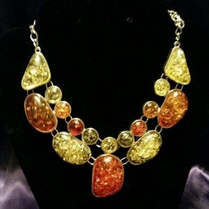 Jewelry - Simulated amber statement necklace